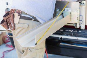 Bucii Roofing gutter installation